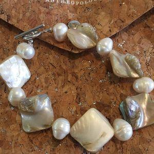 New Anthropologie pearl shell bracelet